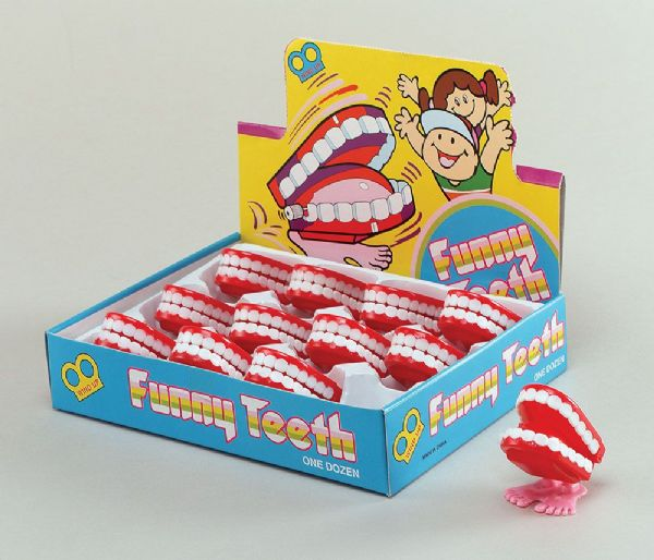 Joke Teeth Wind Up Mini C Hat tering Novelty Gag Trick Party Favor Favour